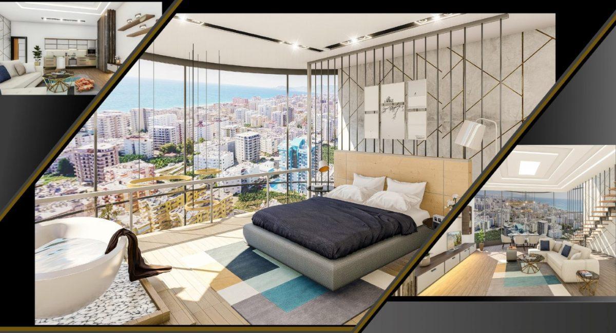 Апартаменты 1+1 в строящемся комплексе в Махмутларе - Фото 11