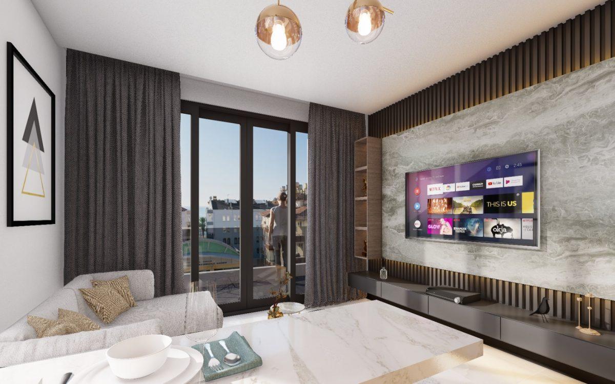 Апартаменты по выгодным ценам от застройщика в центре Алании близко к морю - Фото 15