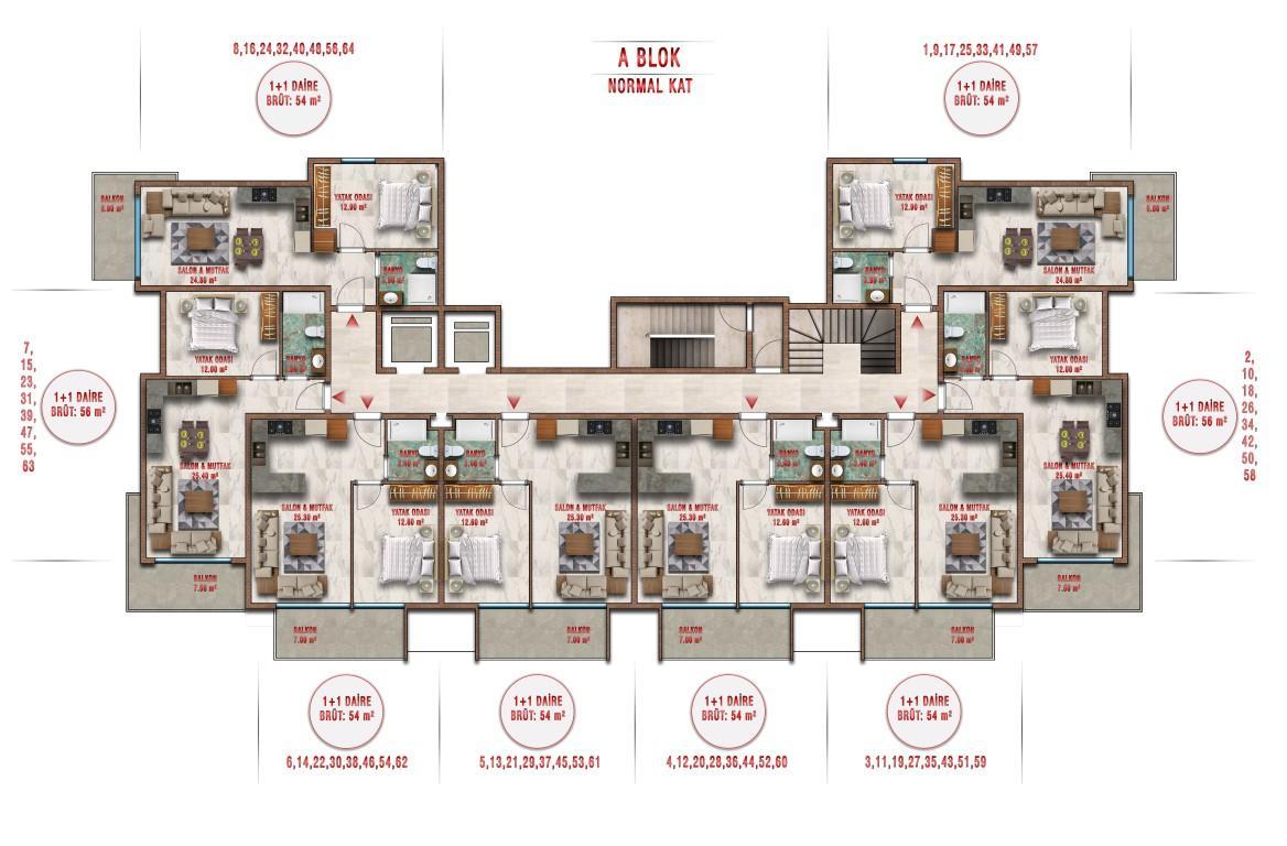 Новые апартаменты по ценам от застройщика в Авсалларе - Фото 35