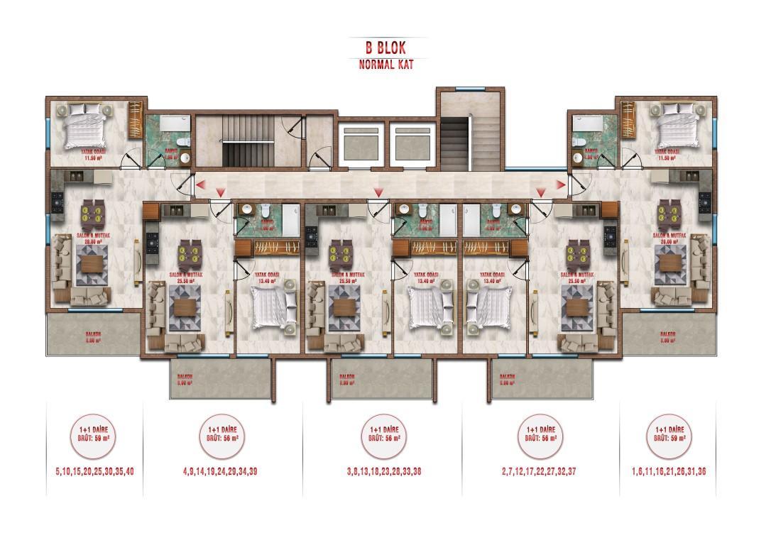 Новые апартаменты по ценам от застройщика в Авсалларе - Фото 38