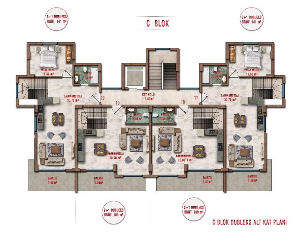 Новые апартаменты по ценам от застройщика в Авсалларе - Фото 39