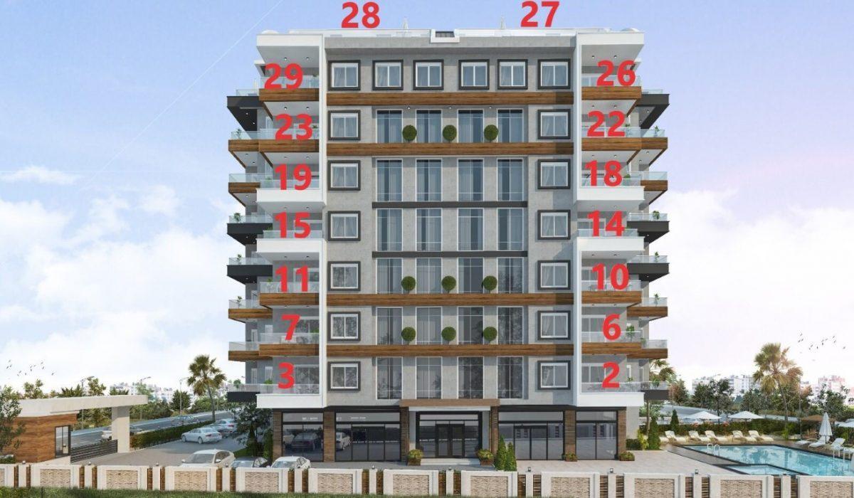 Новый проект жилого комплекса в Авсалларе - Фото 27