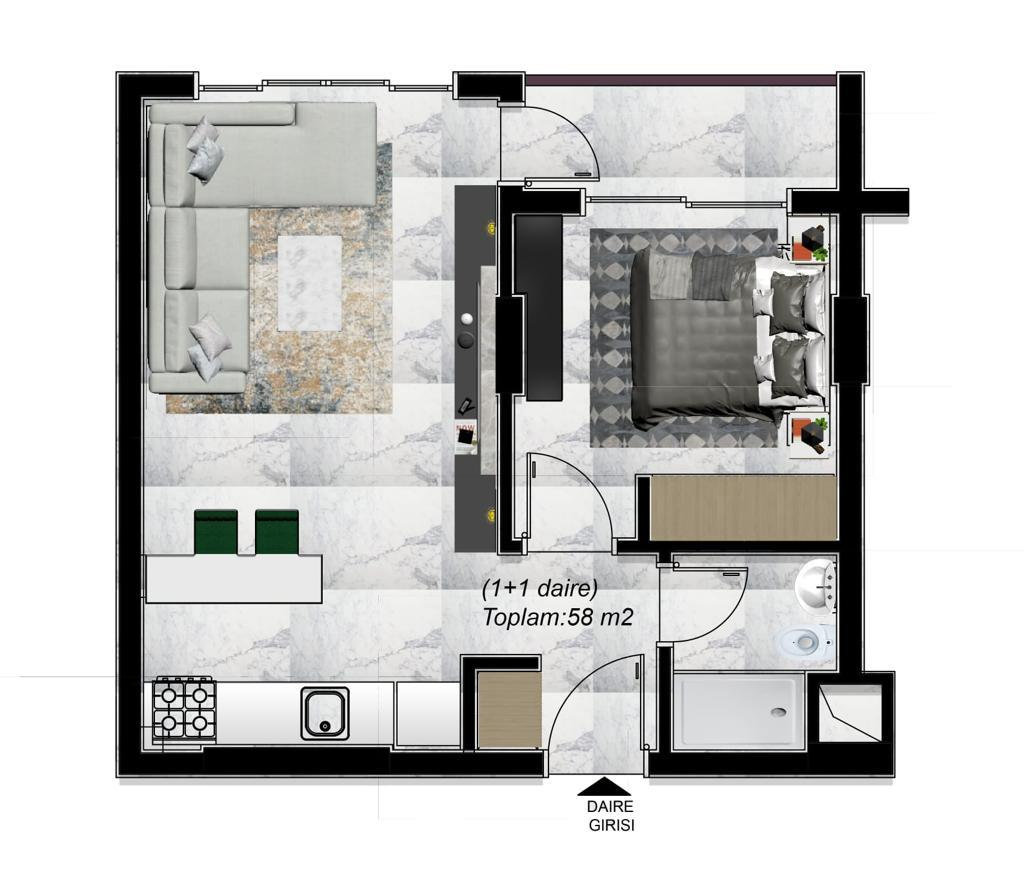 Готовые квартиры по ценам от застройщика в элитном районе Каргыджак - Фото 14