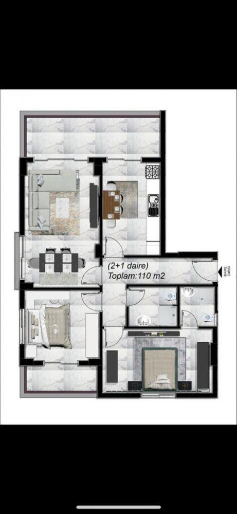 Готовые квартиры по ценам от застройщика в элитном районе Каргыджак - Фото 15