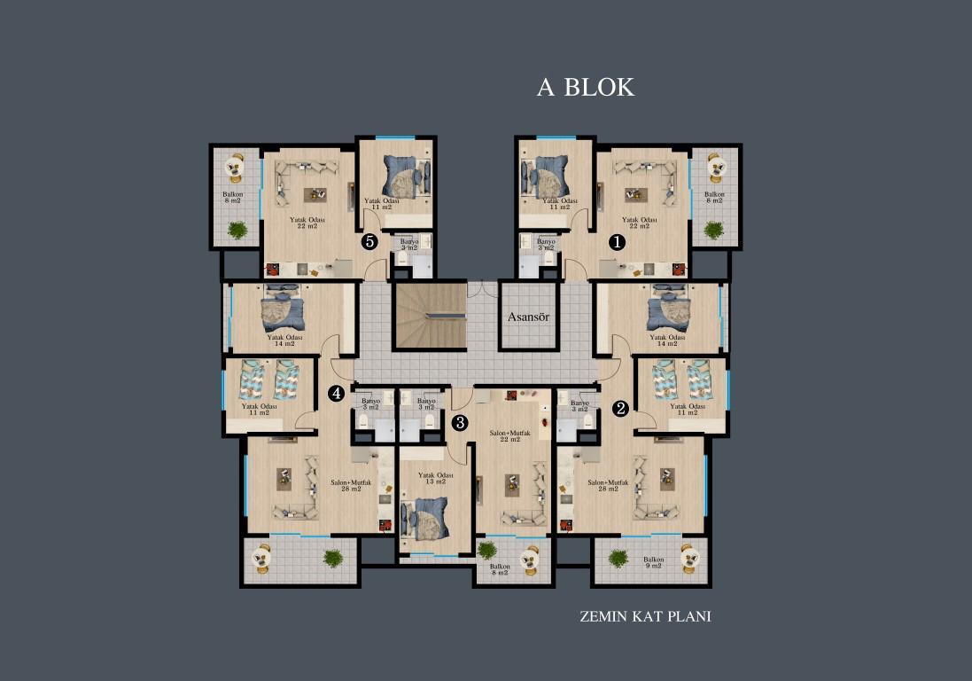 Новый красивый малоэтажный комплекс с видом на всю Аланию - Фото 35