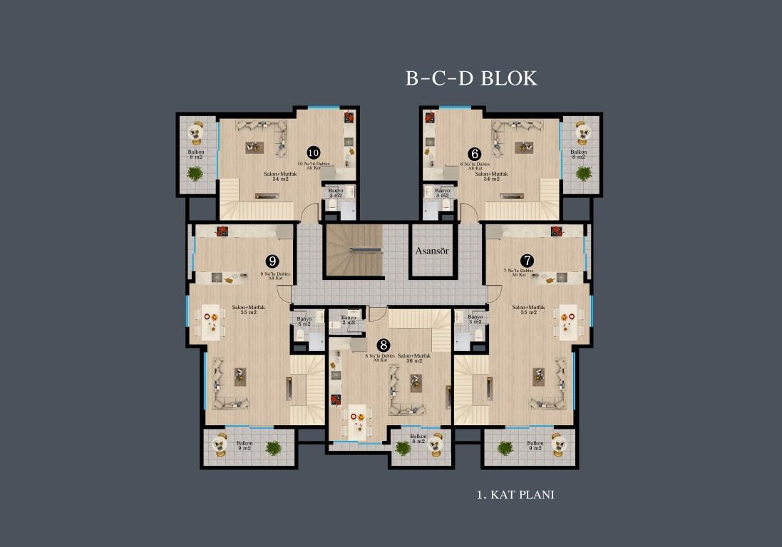 Новый красивый малоэтажный комплекс с видом на всю Аланию - Фото 33