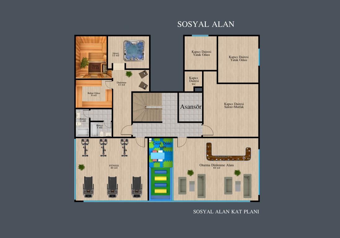 Новый красивый малоэтажный комплекс с видом на всю Аланию - Фото 32