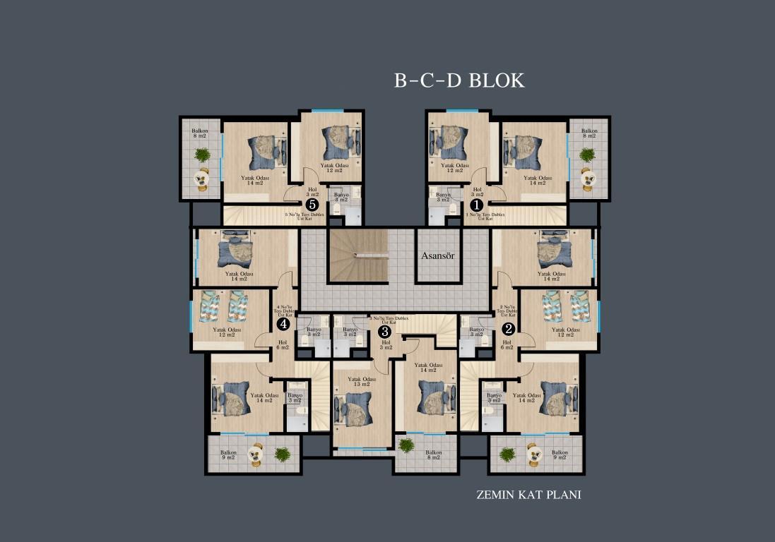 Новый красивый малоэтажный комплекс с видом на всю Аланию - Фото 36