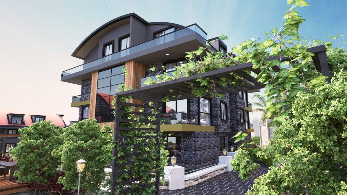 Новый красивый малоэтажный комплекс с видом на всю Аланию - Фото 3