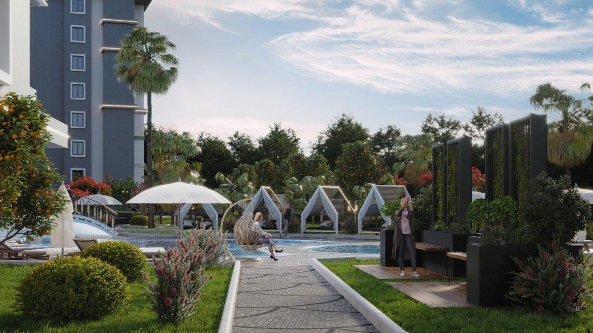 Новый комплекс с отельной инфраструктурой и видом на море в Авсалларе - Фото 11