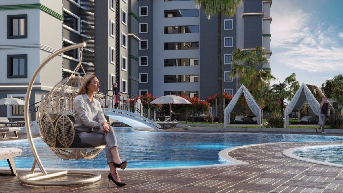Новый комплекс с отельной инфраструктурой и видом на море в Авсалларе - Фото 12