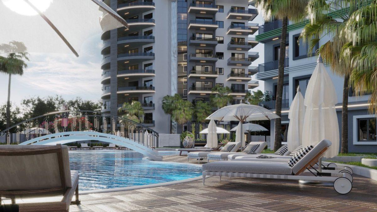 Новый комплекс с отельной инфраструктурой и видом на море в Авсалларе - Фото 3