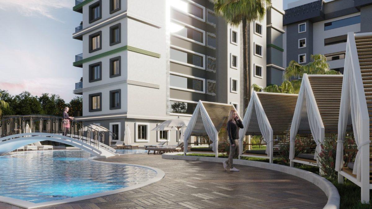 Новый комплекс с отельной инфраструктурой и видом на море в Авсалларе - Фото 4