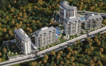 Новый комплекс с отельной инфраструктурой и видом на море в Авсалларе