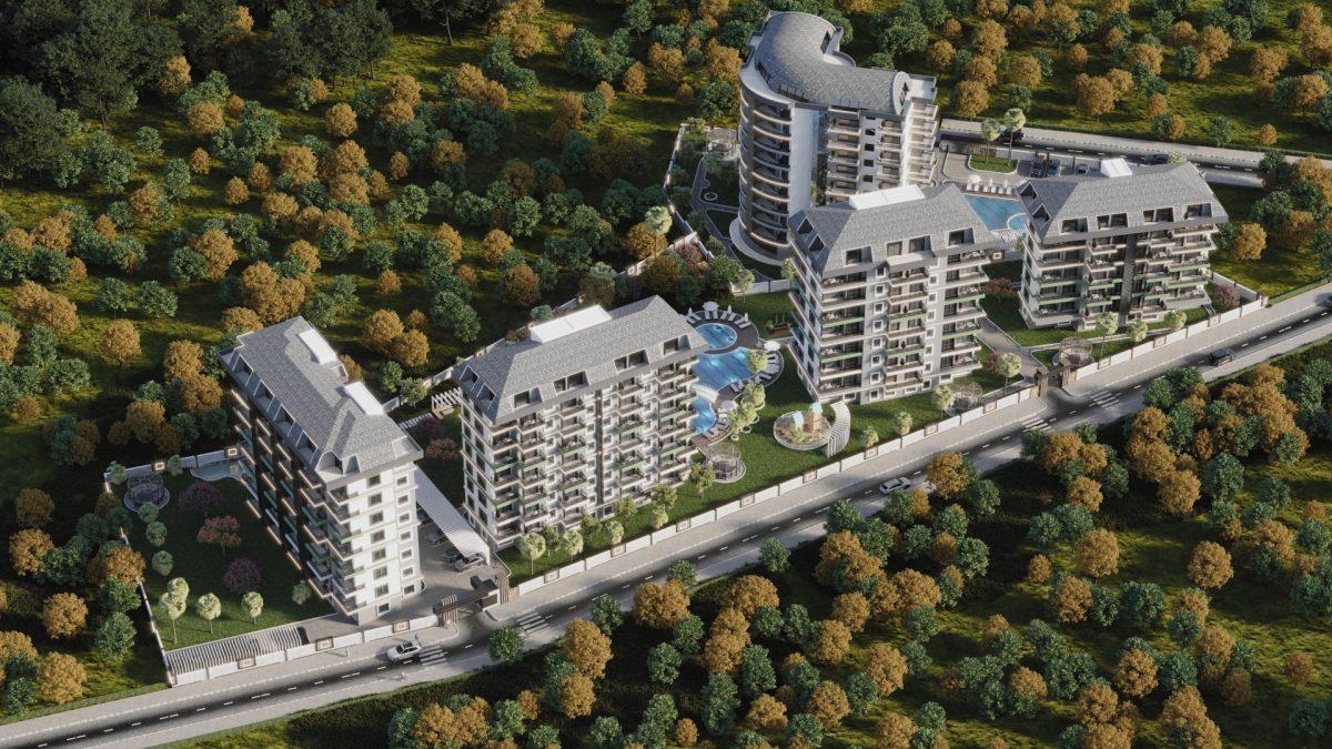 Новый комплекс с отельной инфраструктурой и видом на море в Авсалларе - Фото 1