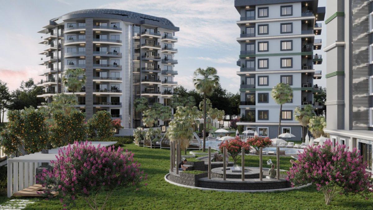 Новый комплекс с отельной инфраструктурой и видом на море в Авсалларе - Фото 5