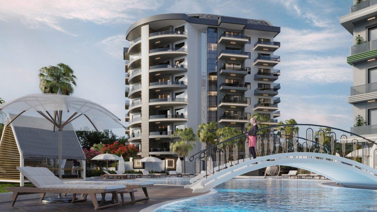 Новый комплекс с отельной инфраструктурой и видом на море в Авсалларе - Фото 8