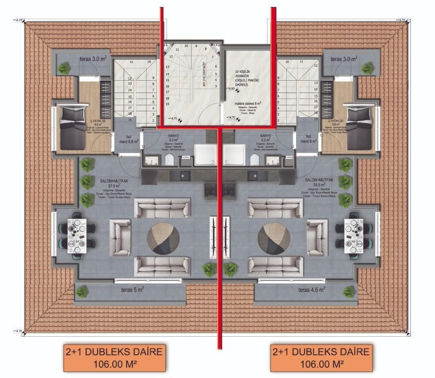 Новый комплекс городского типа в центре Алании - Фото 12