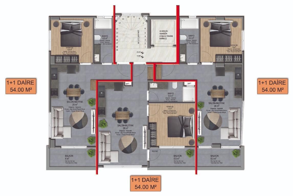 Новый комплекс городского типа в центре Алании - Фото 14