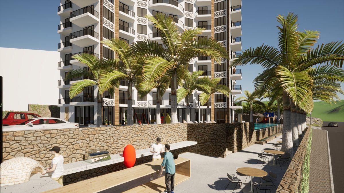 Новый бюджетный комплекс в Махмутларе с видом на море - Фото 9