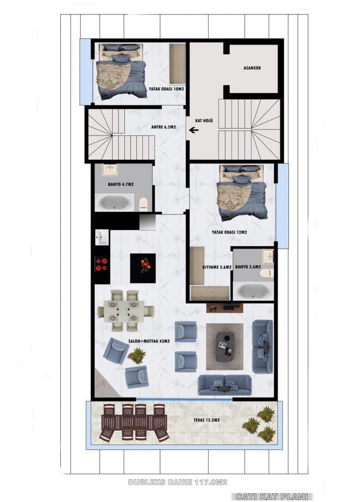 Апартаменты по выгодным ценам от застройщика в центре Алании близко к морю - Фото 23