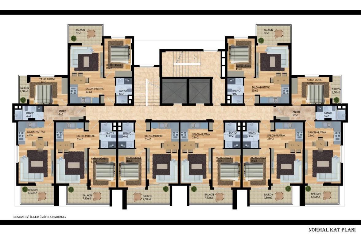 Квартиры с беспроцентной рассрочкой в районе Авсаллар - Фото 21