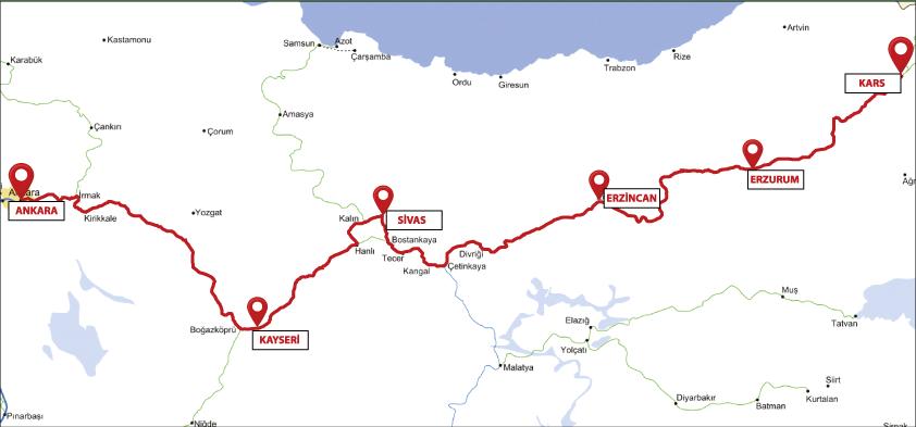 С 12 июля в Турции снова можно проехать на знаменитом «Восточным экспрессе» (Doğu Ekspresi), который следует по маршруту Анкара – Карс.