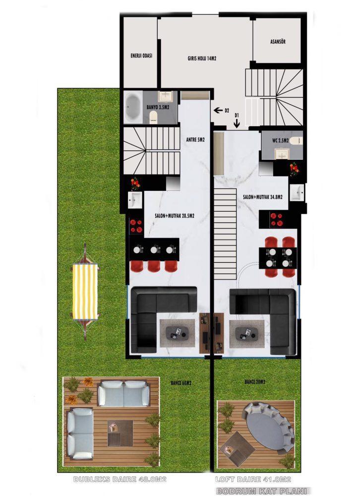 Апартаменты по выгодным ценам от застройщика в центре Алании близко к морю - Фото 24