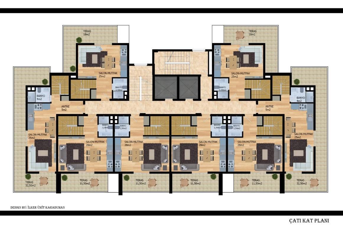 Квартиры с беспроцентной рассрочкой в районе Авсаллар - Фото 22
