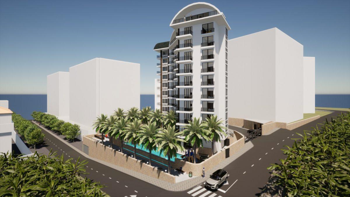 Новый бюджетный комплекс в Махмутларе с видом на море - Фото 10