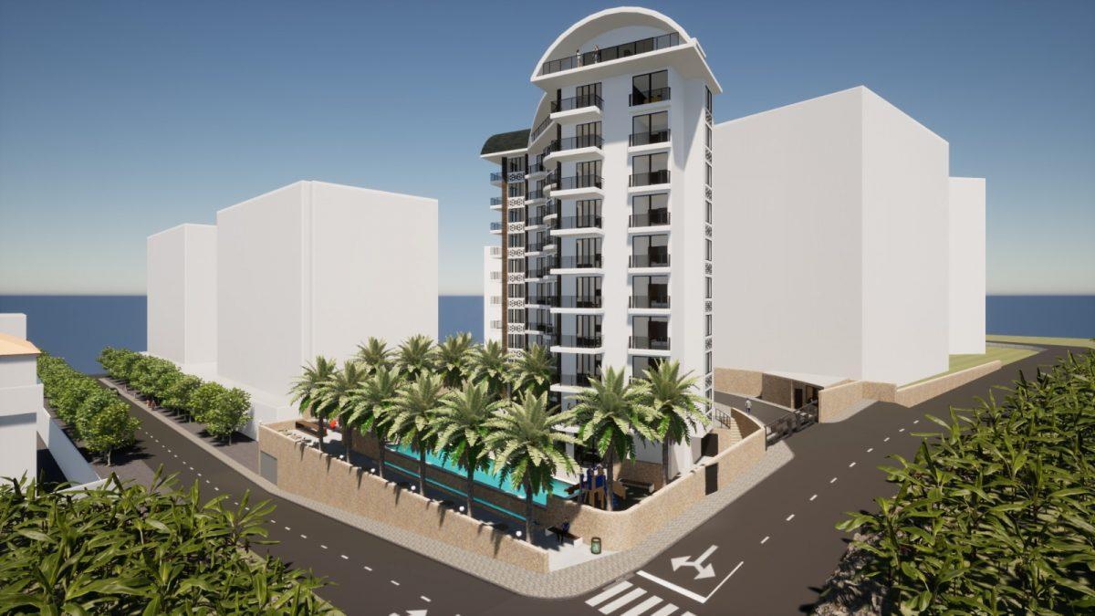 Новый бюджетный комплекс в Махмутларе с видом на море - Фото 17