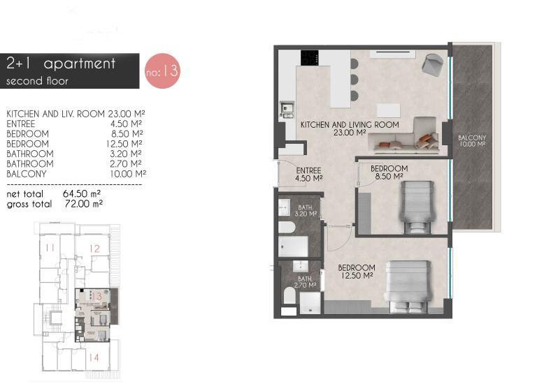 Новые квартиры на первой береговой линии в районе Кестель - Фото 19