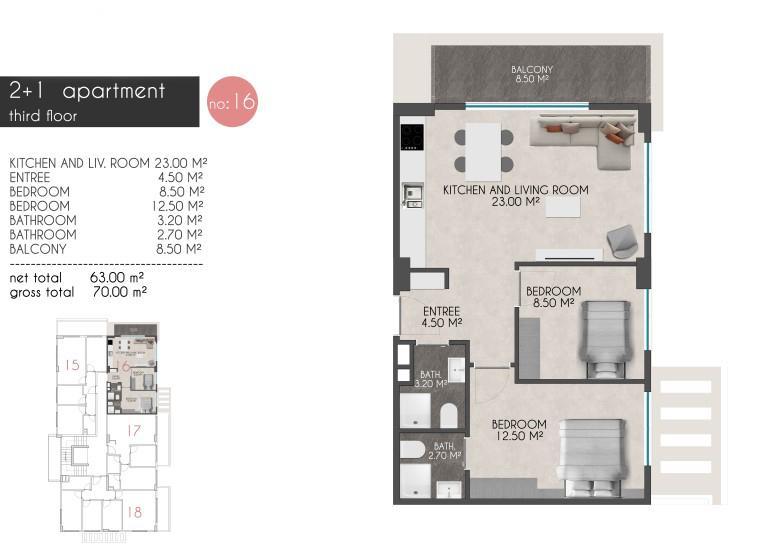Новые квартиры на первой береговой линии в районе Кестель - Фото 20