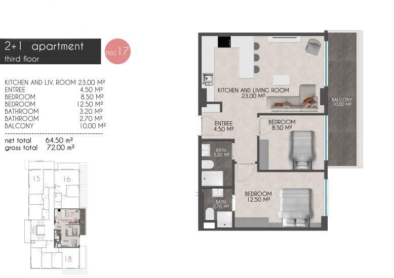Новые квартиры на первой береговой линии в районе Кестель - Фото 21