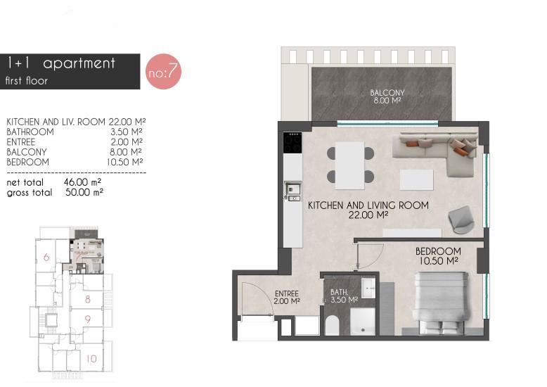 Новые квартиры на первой береговой линии в районе Кестель - Фото 15
