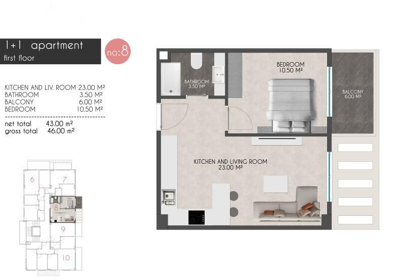 Новые квартиры на первой береговой линии в районе Кестель - Фото 16