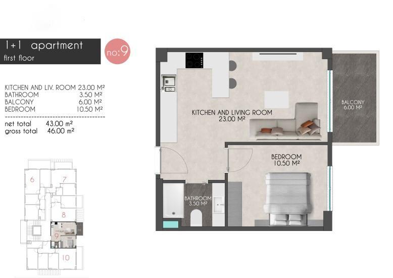 Новые квартиры на первой береговой линии в районе Кестель - Фото 17