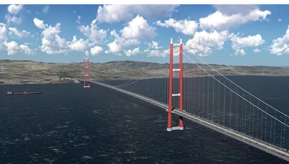 Началось строительство проезжей части через мост «Чанаккале 1915»