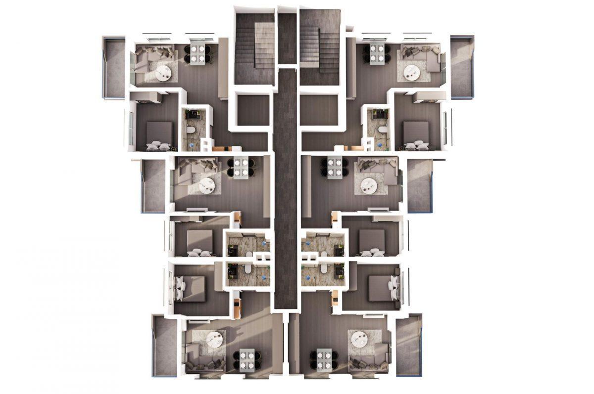 Квартиры в современном комплексе в зеленом районе Махмутлара - Фото 21