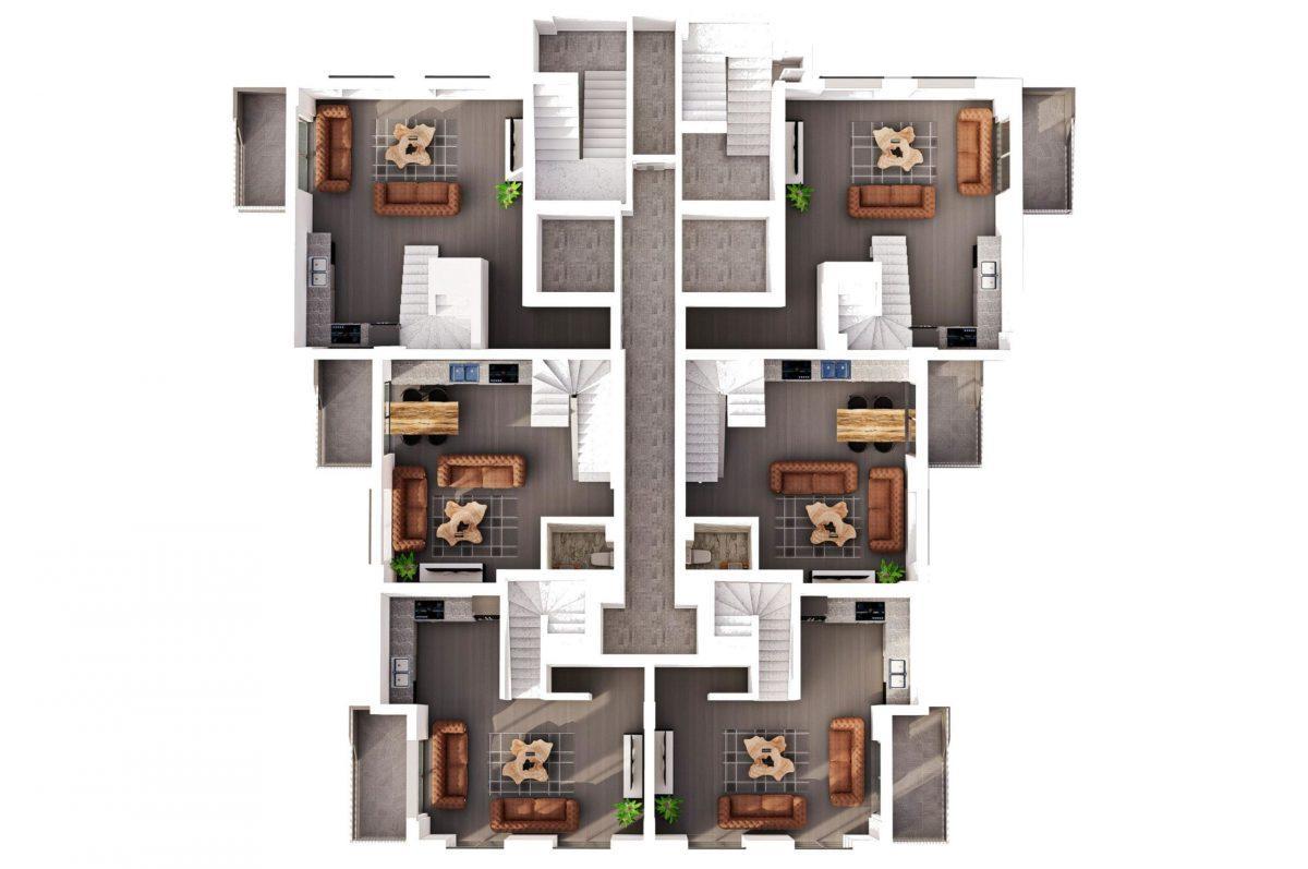 Квартиры в современном комплексе в зеленом районе Махмутлара - Фото 23