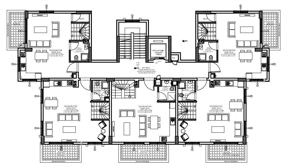 Апартаменты в новом комплексе в Авсалларе - Фото 7