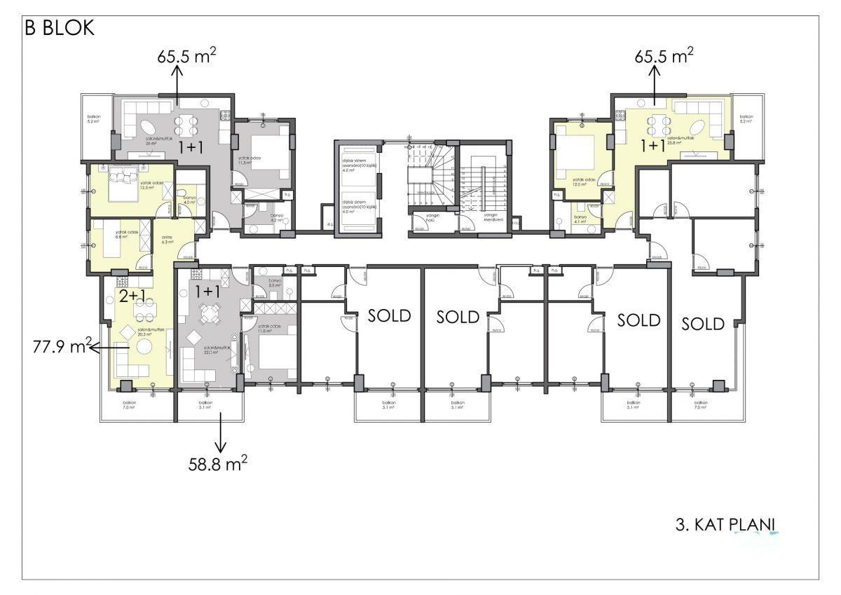 Апартаменты премиального класса в центре Алании - Фото 48