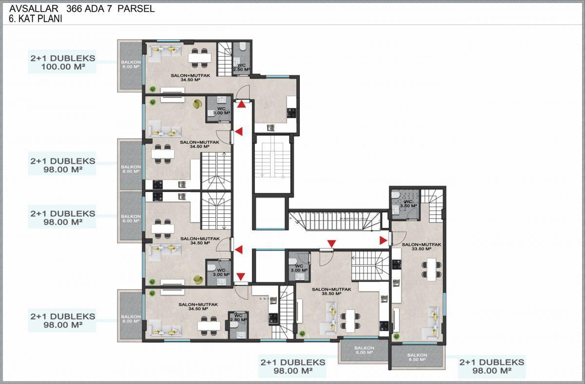 Новые квартиры по доступным ценам в районе Авсаллар - Фото 14