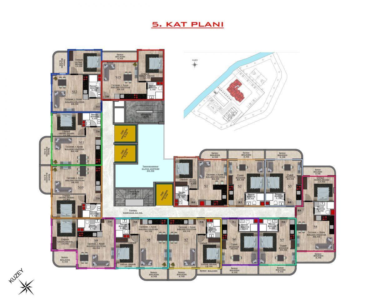 Новый бюджетный комплекс в Махмутларе - Фото 58