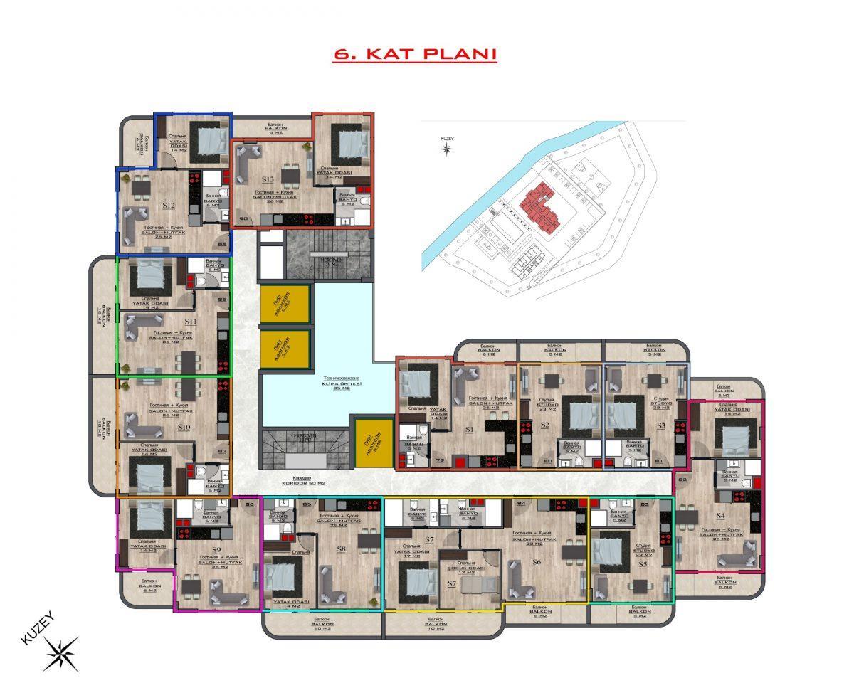 Новый бюджетный комплекс в Махмутларе - Фото 59