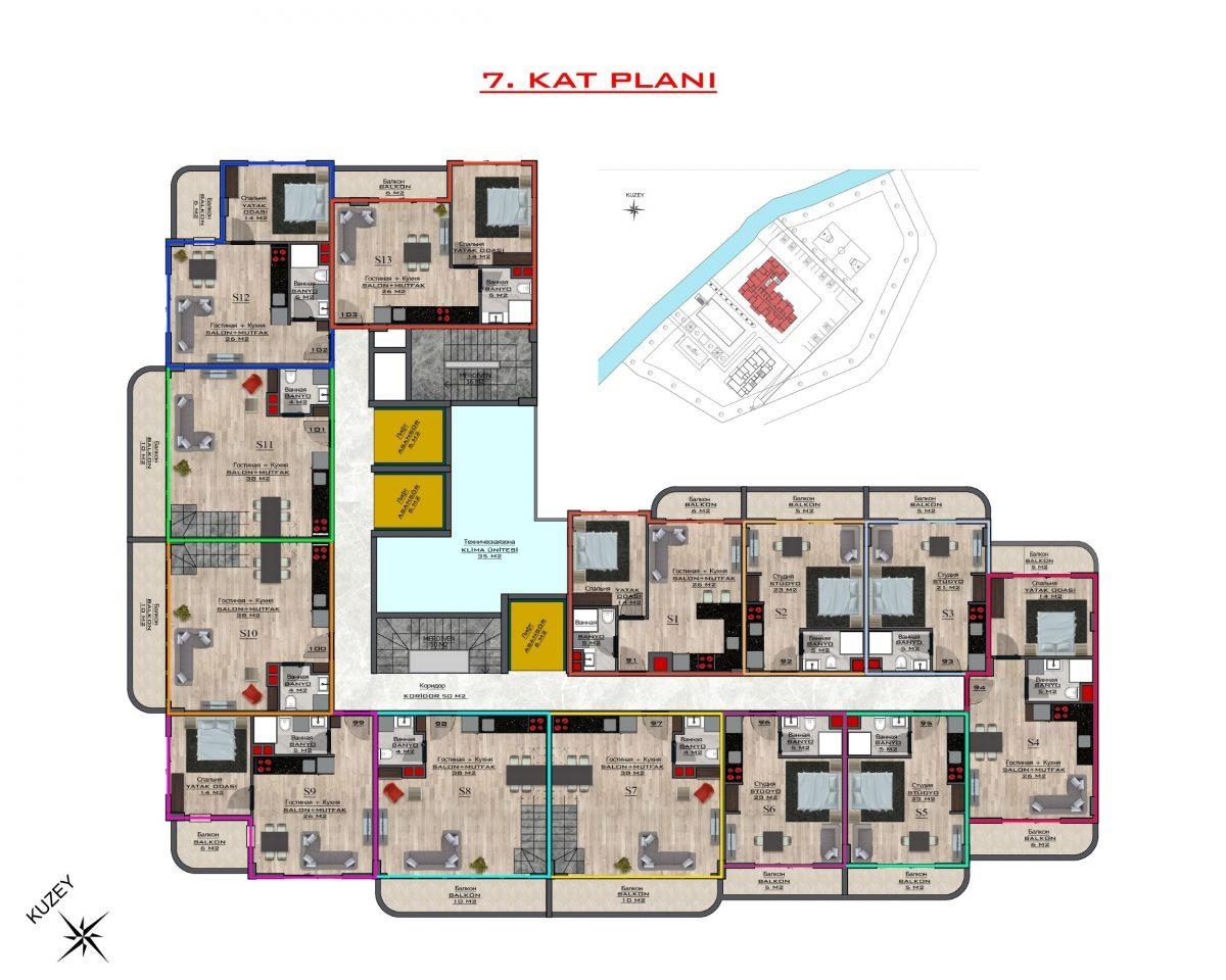 Новый бюджетный комплекс в Махмутларе - Фото 60