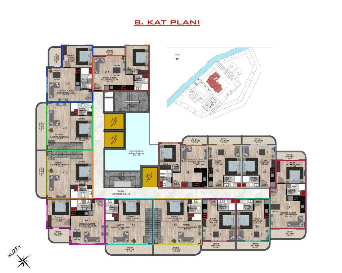 Новый бюджетный комплекс в Махмутларе - Фото 61