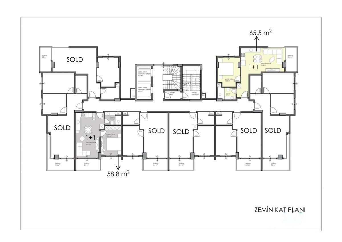 Апартаменты премиального класса в центре Алании - Фото 56