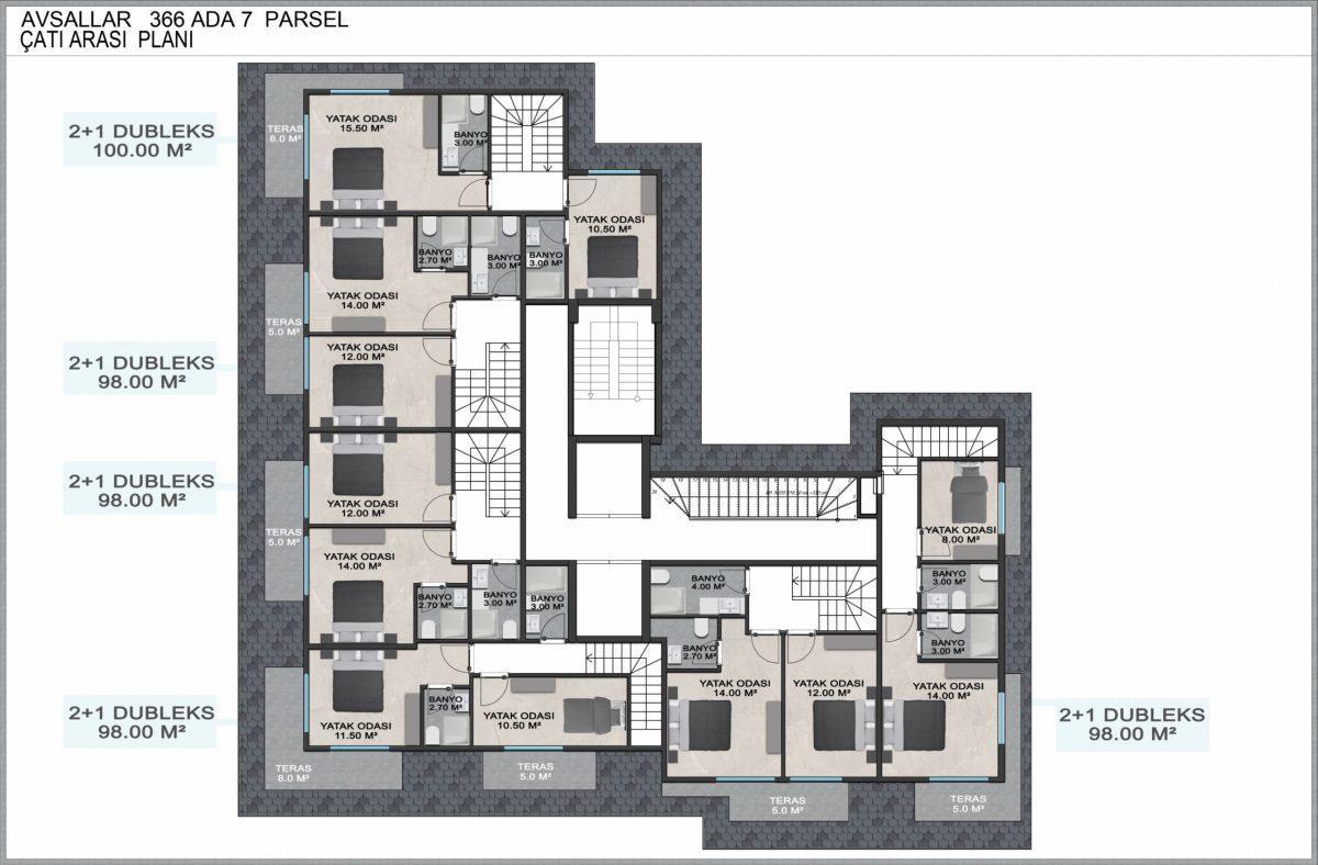 Новые квартиры по доступным ценам в районе Авсаллар - Фото 16