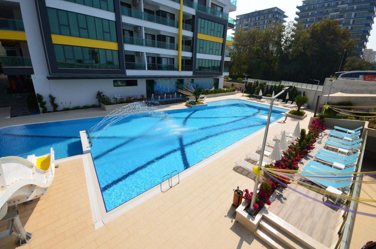 Меблированная квартира 2+1 в комплексе на первой линии с отельной инфраструктурой - Фото 47
